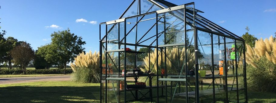 Vitavia  Greenhouses on display at Millbank Sectional Buildings